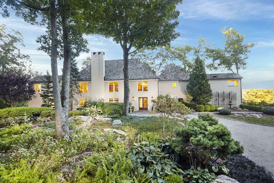 The Mediterranean-style European villa at 12 Dogwood Lane is perfectly positioned on a four-acre property, which resembles the French countryside.