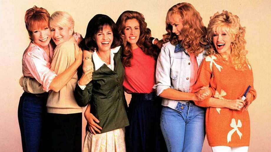 """Shirley MacLaine, left, Olympia Dukakis, Sally Field, Julia Roberts, Daryl Hannah and Dolly Parton star in """"Steel Magnolias."""" The film's 30th anniversary will be celebrated with a screening at The Ridgefield Playhouse on May 22. Photo: Contributed Photo"""