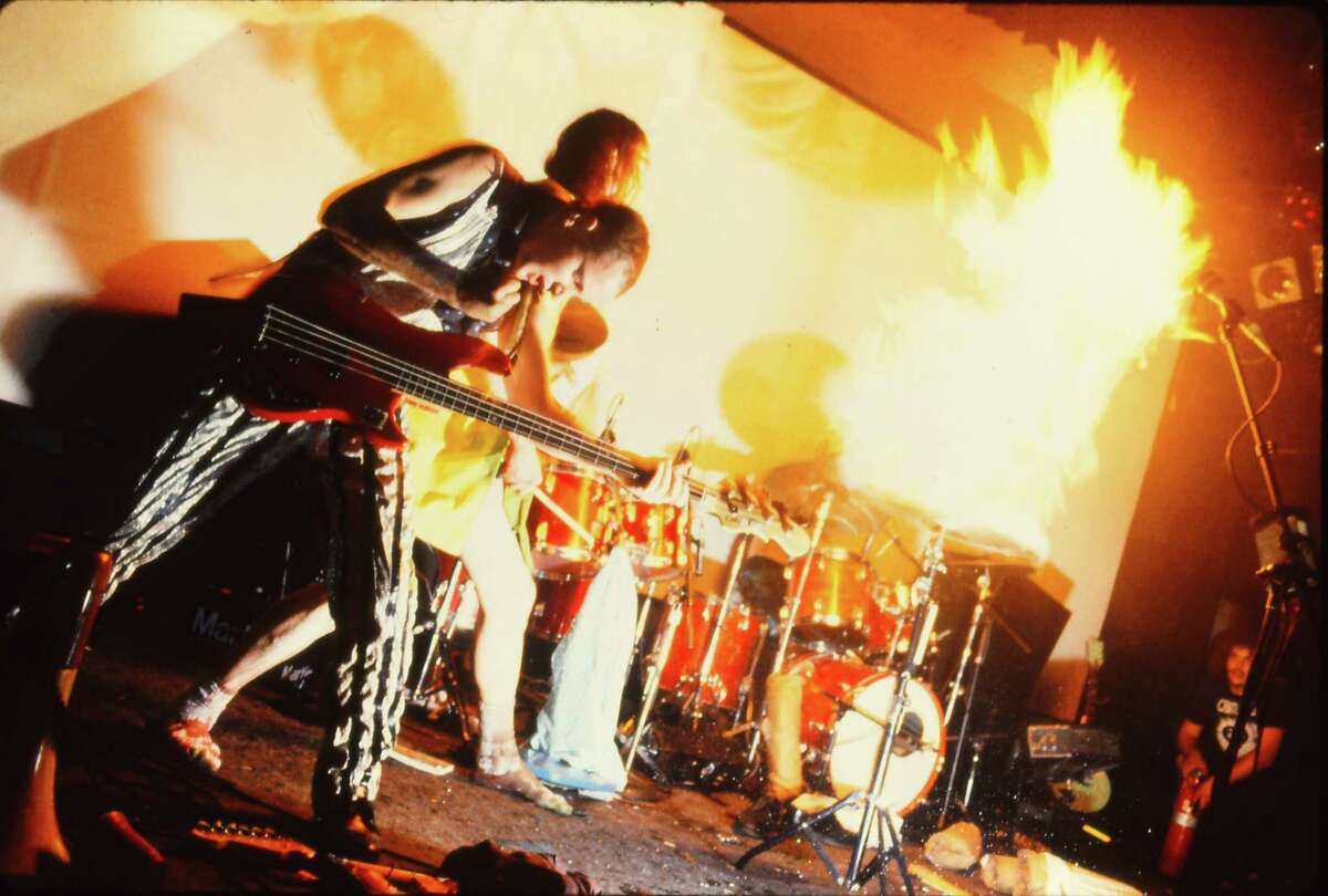 The Butthole Surfers play the Ritz Theatre in New York in 1988.