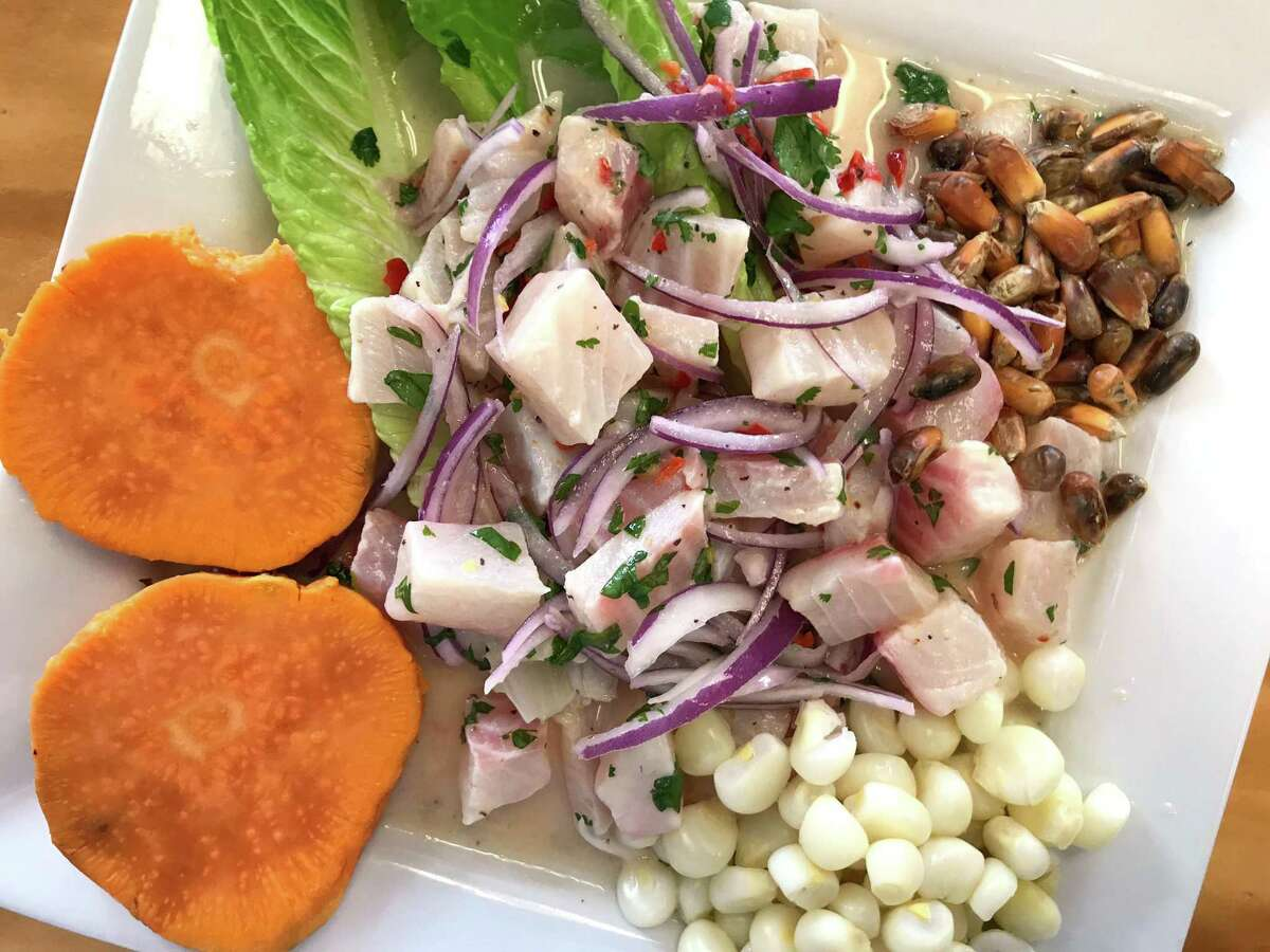 Ceviche de pescado from Machu Picchu Peruvian Grill, which is located at 7007 Bandera Road in Leon Valley.