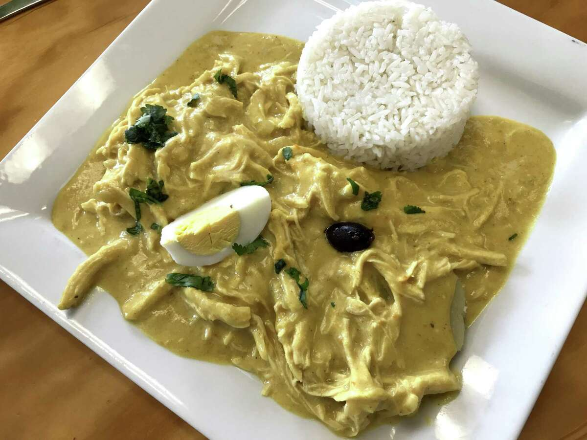Aji de gallina from Machu Picchu Peruvian Grill, which is located at 7007 Bandera Road in Leon Valley.
