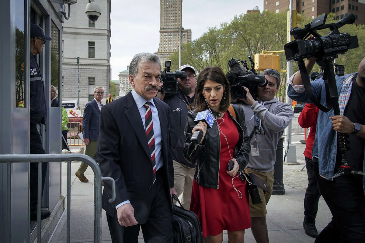 NEW YORK, NY - MAY 7: Paul DerOhannesian, an attorney representing alleged sex cult leader Keith Raniere, arrives at the U.S. District Court for the Eastern District of New York, May 7, 2019 in the Brooklyn borough of New York City. Opening arguments begin on Tuesday morning for the trial of Keith Raniere, the leader of the alleged sex cult NXIVM. Raniere, who could potentially face life in prison, has pleaded not guilty to sex trafficking, racketeering and other charges.