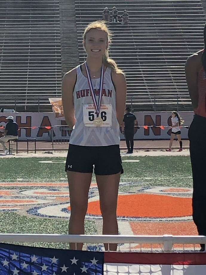Hargrave senior Brooke Koenig will be competing in the long jump at the state meet and will also be competing as part of the girls 4x100-meter relay team Photo: Hargrave Track And Field Twitter