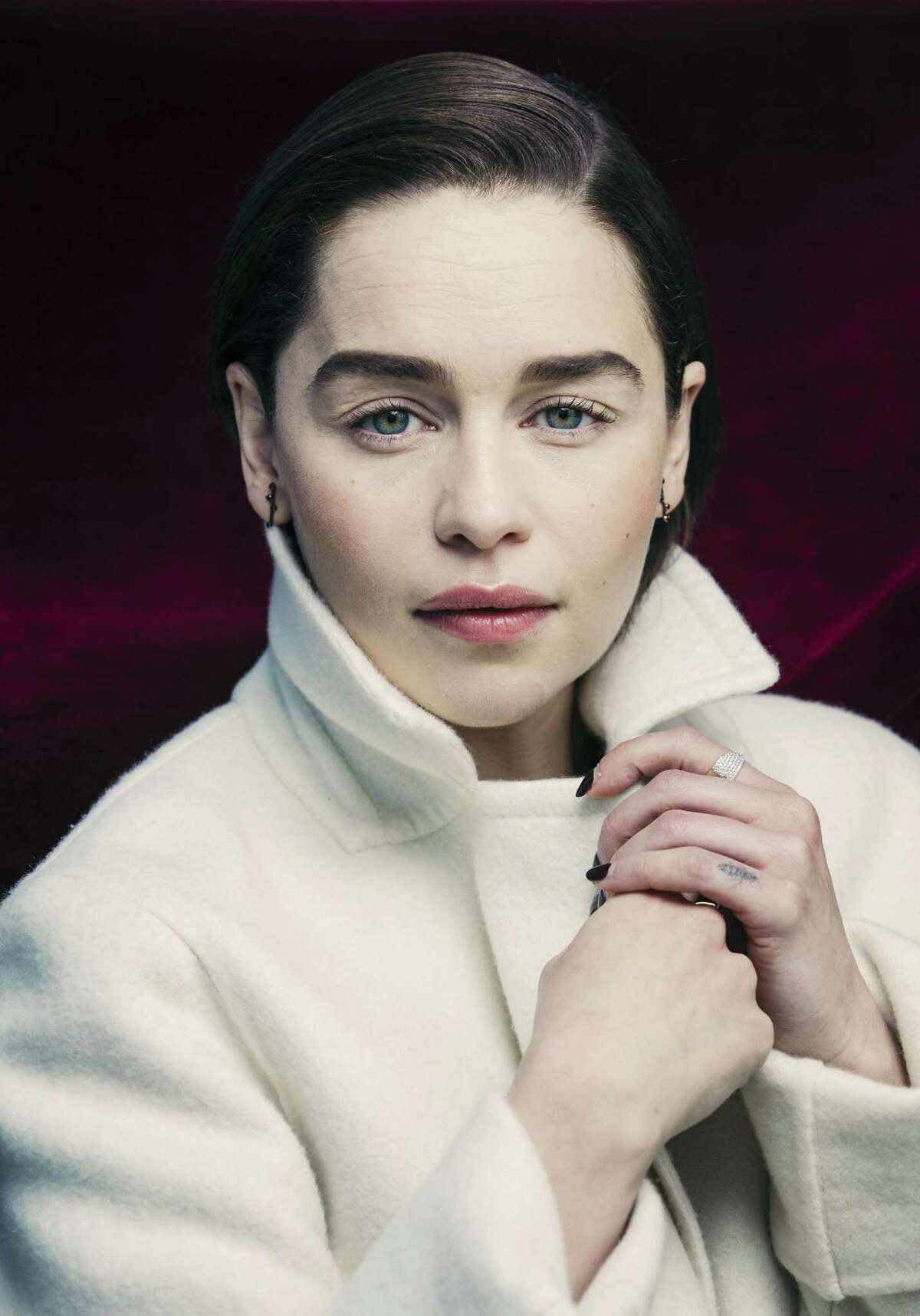 """""""Game of Thrones"""" star Emilia Clarke at the Mandarin Oriental Hotel in Manhattan, April 3, 2019. Clarke has conquered her health issues. Now will Daenerys conquer the Seven Kingdoms?"""