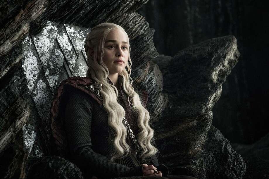"""Emilia Clarke as Daenerys Targaryen in """"Game of Thrones."""" Photo: Helen Sloan/HBO,  HO / TNS / Los Angeles Times"""