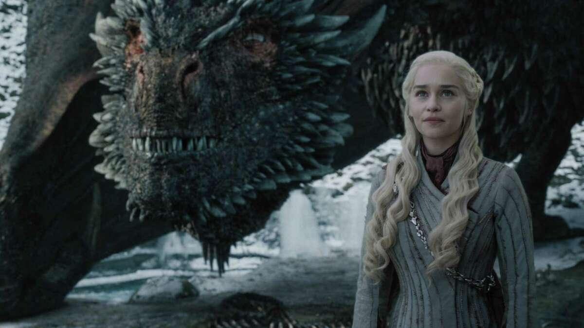 """Emilia Clarke as Daenerys Targaryen in a scene from """"Game of Thrones."""" MUST CREDIT: Handout pohto by Helen Sloane/HBO"""