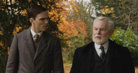 """Nicholas Hoult and Derek Jacobi in the film """"Tolkien."""" (Photo Courtesy of Fox Searchlight Pictures/TNS)"""