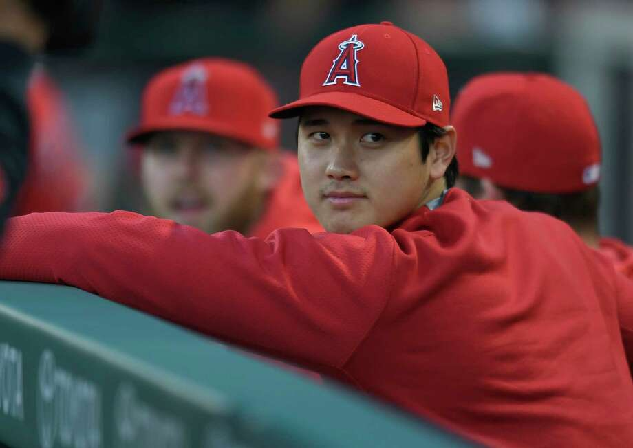PHOTOS: 2019 Astros game-by-game  ANAHEIM, CA - APRIL 10: Shohei Ohtani of the Los Angeles Angels of Anaheim sits in the dugout during a game against Milwaukee Brewers at Angel Stadium of Anaheim on April 10, 2019 in Anaheim, California.  >>>See how the Astros have fared so far this season ...  Photo: John McCoy, Getty Images / 2019 Getty Images