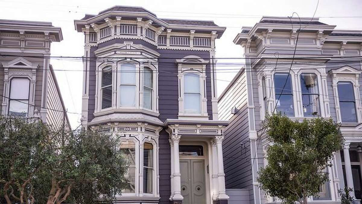 """The famous """"Full House"""" home in San Francisco before the remodel."""