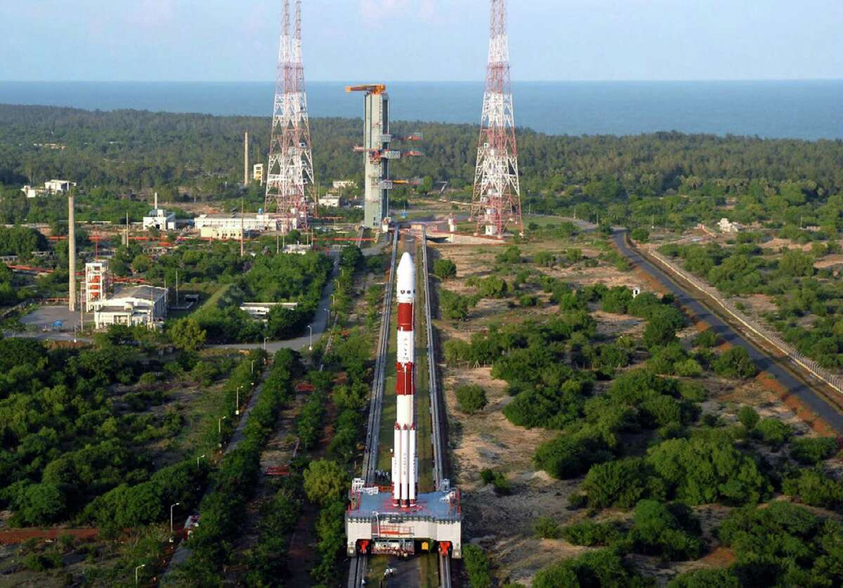 In this undated photo provided by the Indian Space Research Organization, Chandrayaan-1, India's maiden lunar mission, is taken to the launch pad at the Satish Dhawan Space Centre in Sriharikota, about 100 kilometers (63 miles) north of Chennai, India. India was set to launch its first lunar mission from the center in southern India at 06:20 a.m (0050 GMT) Wednesday, Oct. 22, 2008, putting the country in an elite group of nations with the scientific know-how to reach the moon, but also heating up a burgeoning Asian space race. The 3,000 pound (1,400 kilogram) satellite Chandrayaan-1 (Moon Craft in ancient Sanskrit) will join Japanese and Chinese crafts currently in orbit around the moon for a two-year mission designed to map out the whole lunar surface.