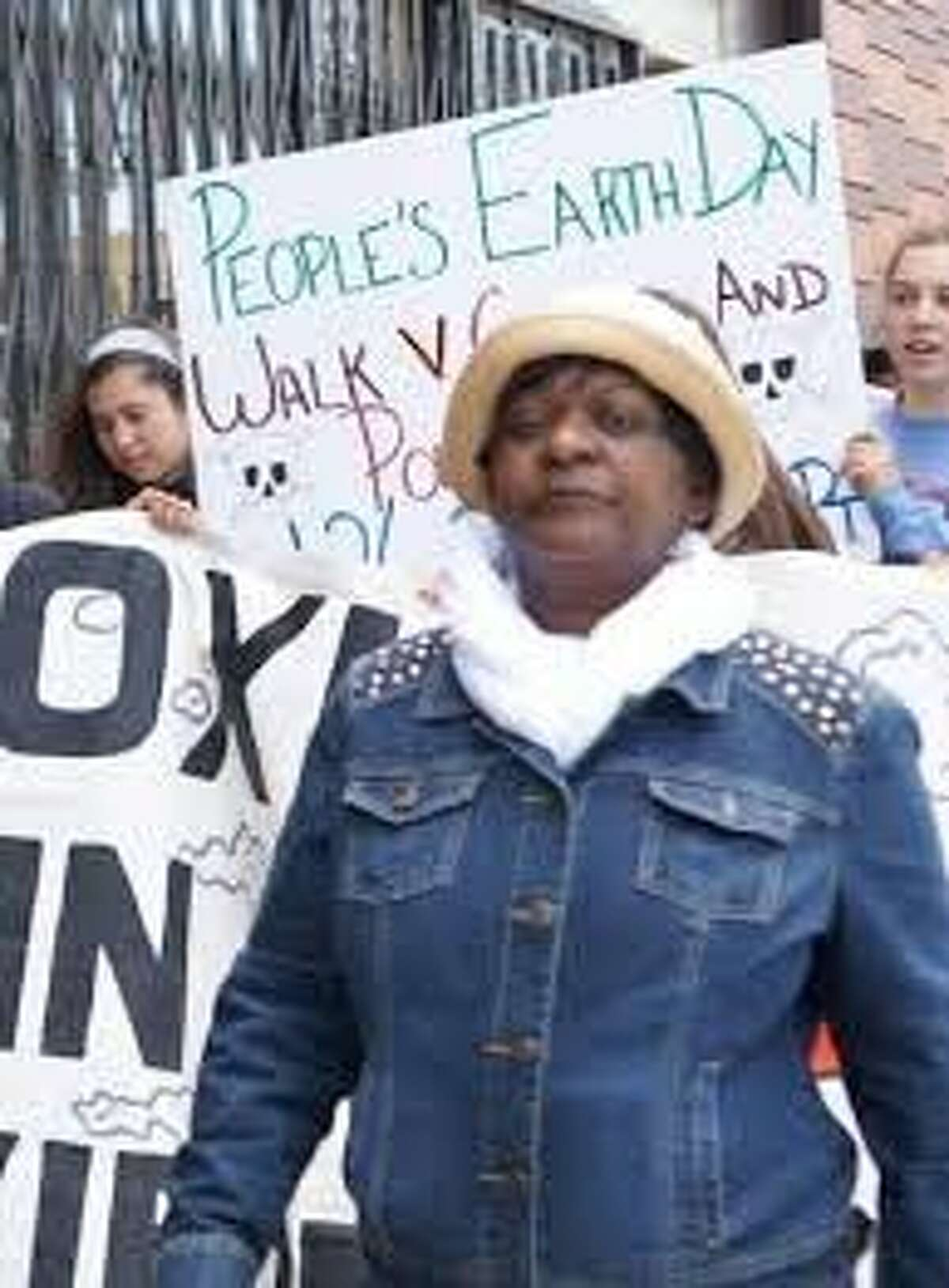 Environmental activist Marie Harrison was no stranger to protests and picket signs