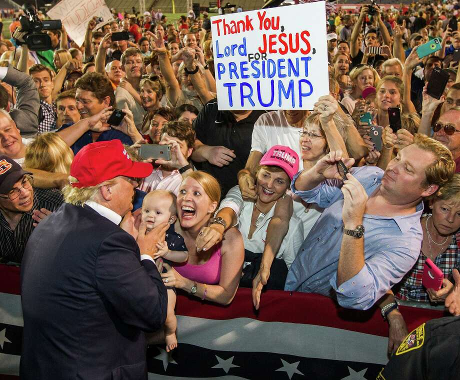 Maybe Donald Trump was sent to the American people — but it wasn't by Jesus. Whose example are evangelicals following? Photo: Mark Wallheiser /Getty Images / 2015  Getty Images