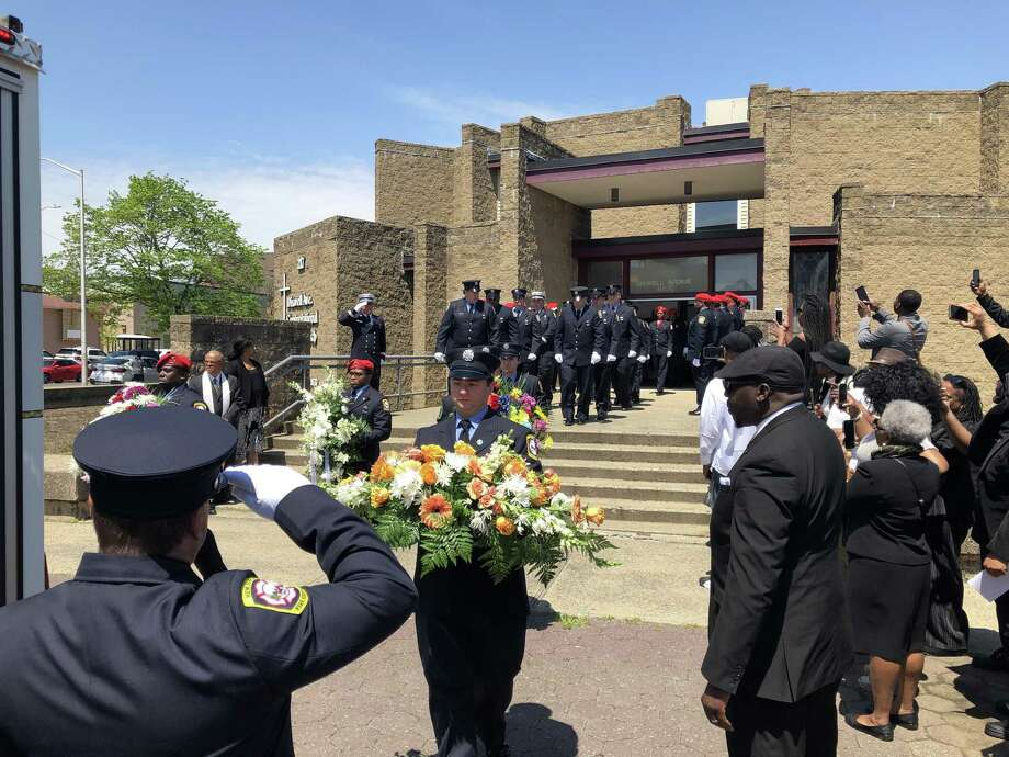 City residents gathered Tuesday to celebrate the life of New Haven firefighter George Browne. Browne, a 20-year veteran of the department, died April 26. Photo: Ben Lambert / Hearst Connecticut Media