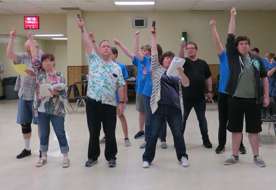 The cast of Freaky Friday rehearses one of its musical numbers. The show opens on Friday, May 10 at SIUE's Dunham Theater. Photo: Carol Arnett | For The Intelligencer