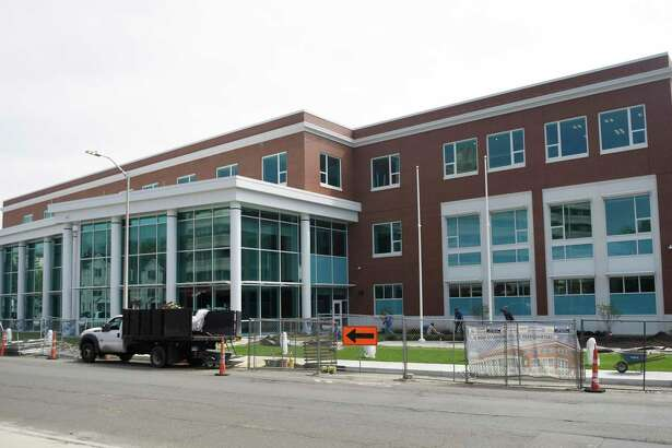 The new Stamford Police headquarters in Stamford, Conn. Tuesday, May 7, 2019. The new 94,000 sq. ft. station sits on the corner of Bedford Street and North Street just south of the current police headquarters, which will be demolished after the move-in is complete.