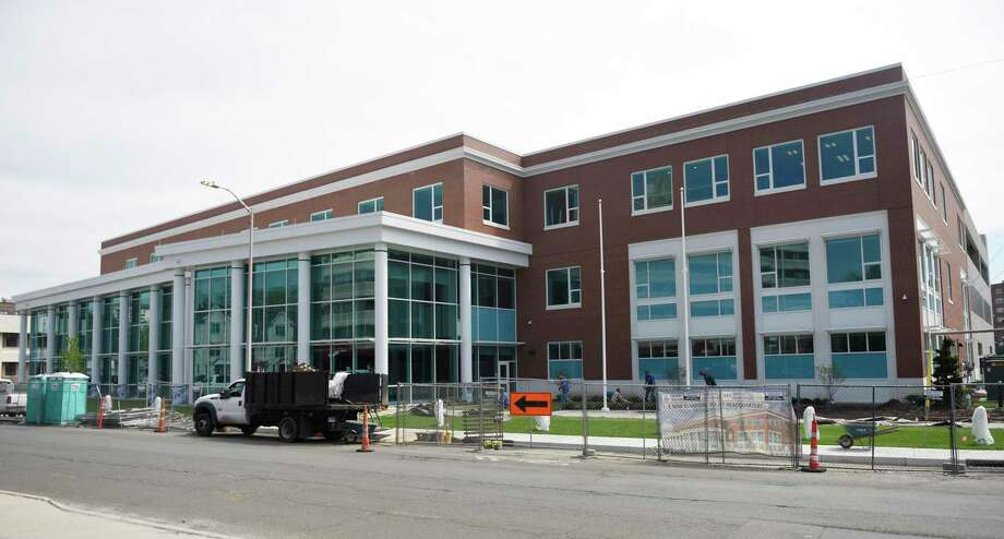 The new Stamford Police headquarters in Stamford, Conn. Tuesday, May 7, 2019. The new 94,000 sq. ft. station sits on the corner of Bedford Street and North Street just south of the current police headquarters, which will be demolished after the move-in is complete. Photo: Tyler Sizemore / Hearst Connecticut Media / Greenwich Time
