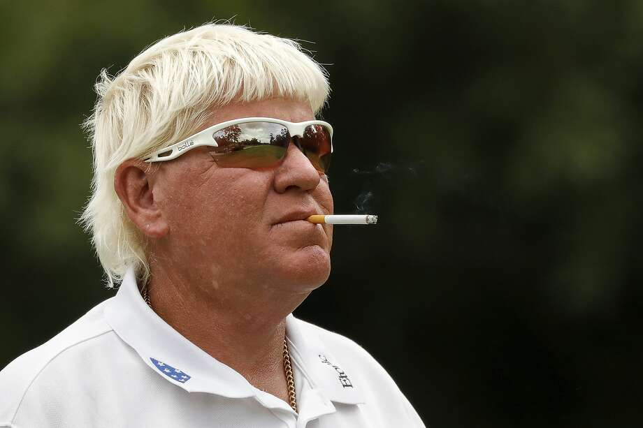 John Daly watches his shot from the seventh tee during the Woodforest National Bank Championship Pro-Am before the Insperity Invitational at The Woodlands Country Club in The Woodlands, TX on Wednesday, May 1, 2019. Photo: Tim Warner, Contributor