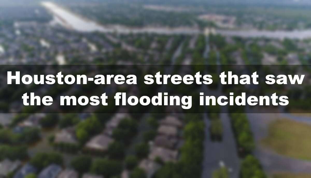 >>>Click through to see which Houston-area streets saw the most flooding incidents in 2018.