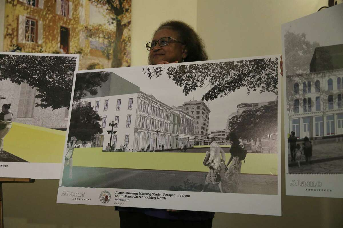 One of several rendering presented as officials with the San Antonio Conservation Society unveil a