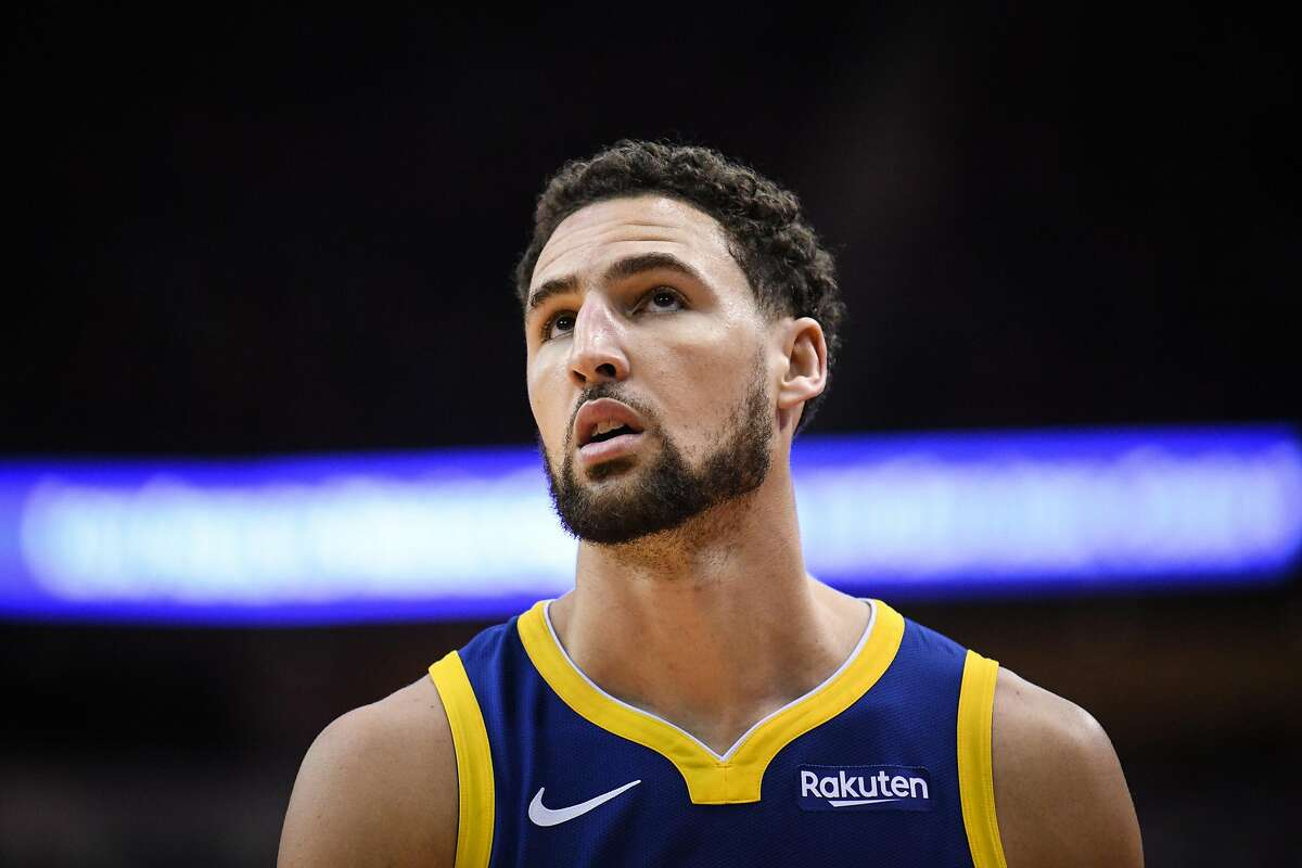 Golden State Warriors guard Klay Thompson (11) is seen in the second half during game 3 of the NBA Western Conference Semifinals between the Golden State Warriors and Houston Rockets at the Toyota Center in Houston, Texas, on Saturday, May 4, 2019. Click through the slideshow to see fun facts about Klay Thompson.