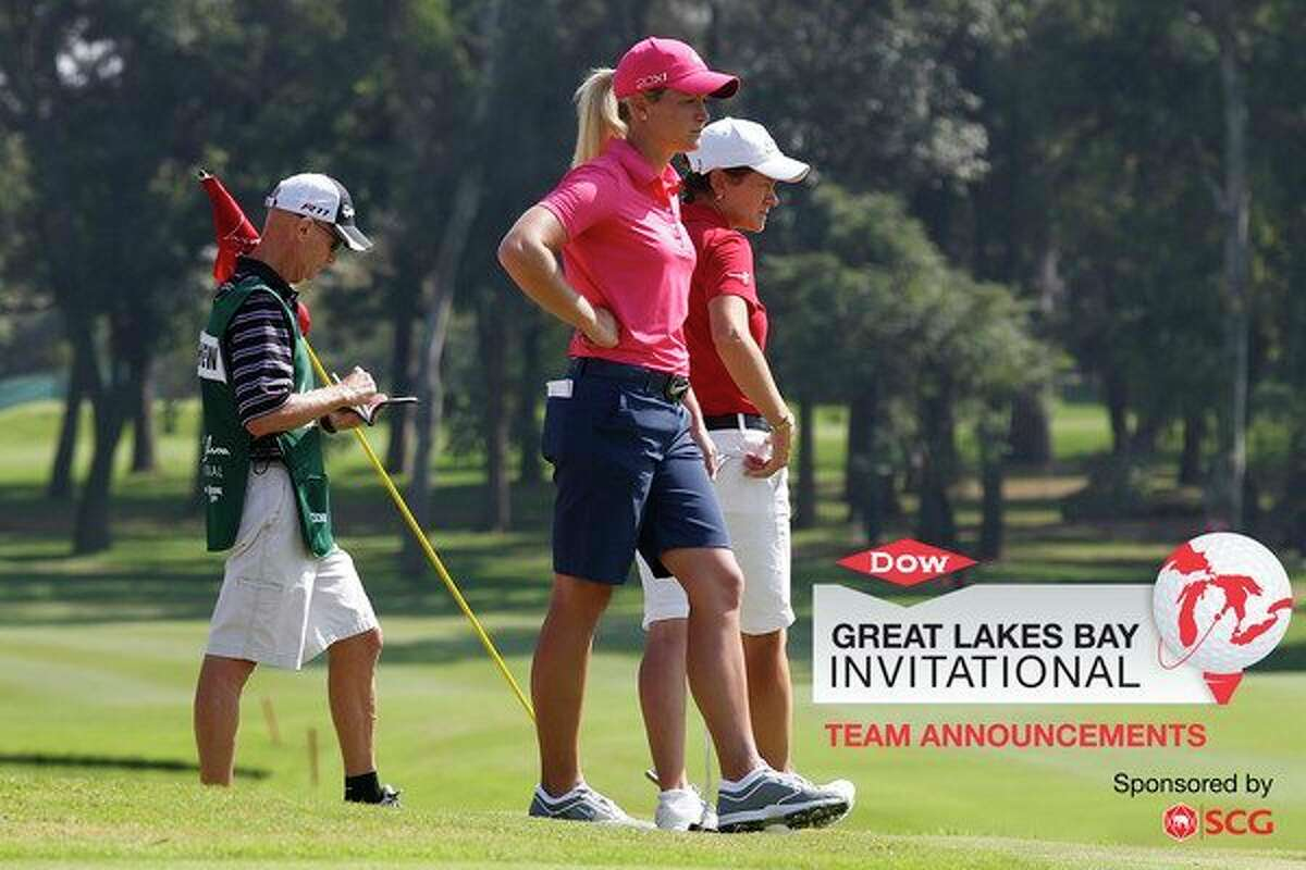 In this 2011 photo, Suzann Pettersen of Norway, center, and Catriona Matthew of Scotland, right, wait to play on the second green during the final round of the Lorena Ochoa Invitational in Guadalajara, Mexico. (Michael Cohen/Getty Images)