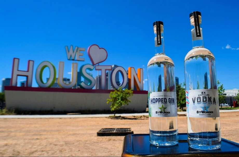The owners of 8th Wonder Brewery have opened 8th Wonder Distillery in EaDo, serving two spirits produced on-site: an 8-times distilled vodka and a hopped gin. Photo: Jeremy Flint