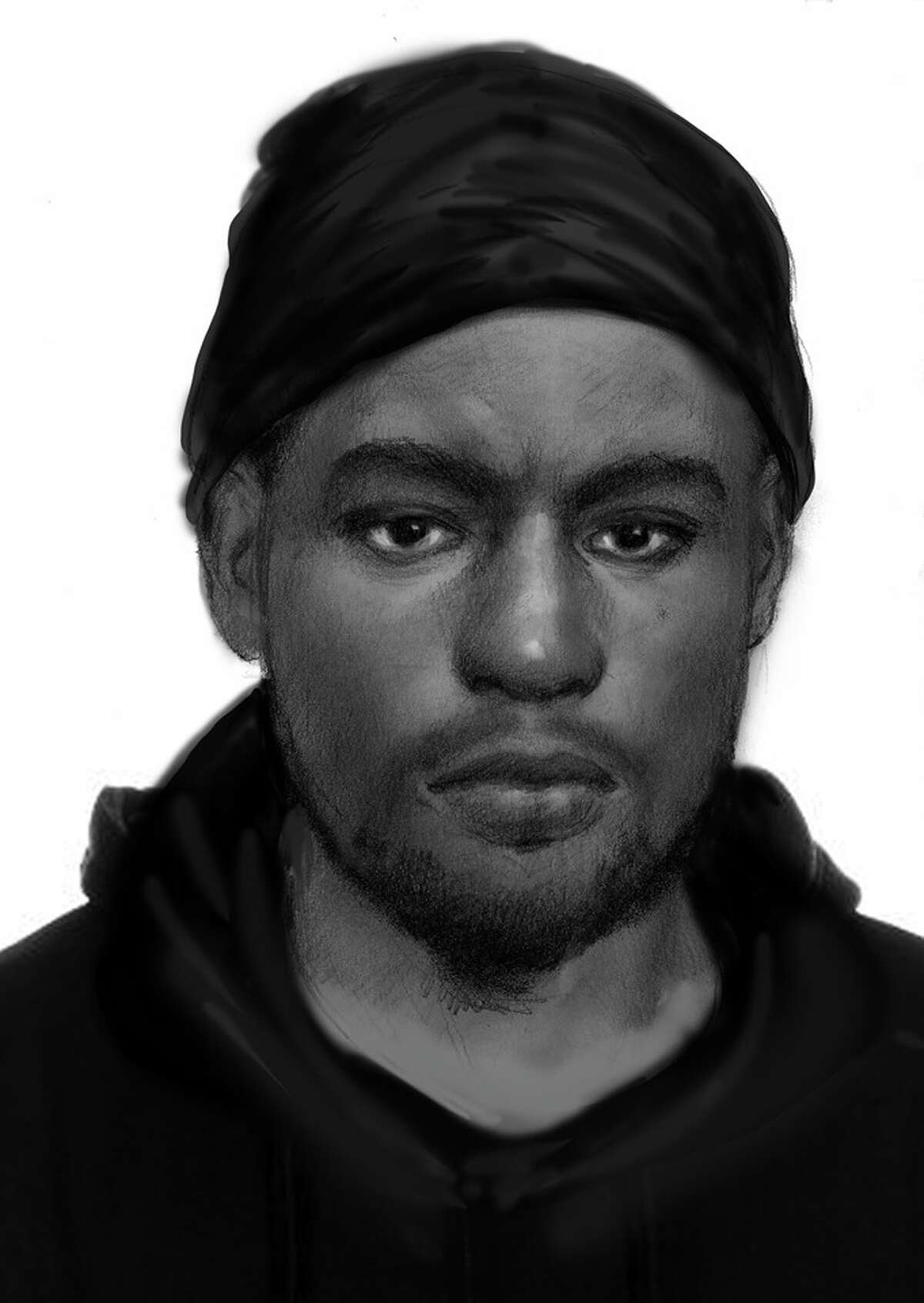 This sketch was released Friday, May 3, 2019, as San Marcos police sought a suspect tied to three sexual assaults. One of the victims saw the man's face and was able to give a description. Police described him as a black male, approximately 6'2