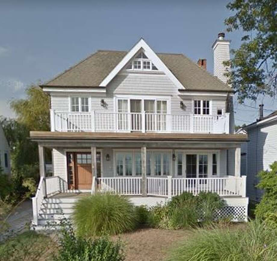 19 South Beach Drive in Rowayton sold for $2,450,000. Photo: Google Street View