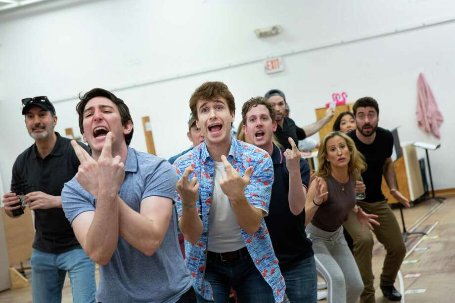 "The cast rehearses for the new musical ""The Flamingo Kid"" at Hartford Stage. Photo: Hartford Stage / Contributed Photo"