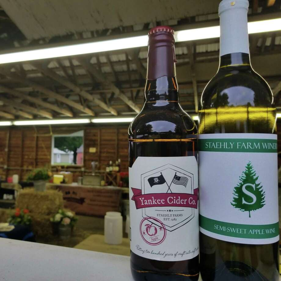 Apple and cider wines from Staehly Farm Winery of East Haddam Photo: File Photo