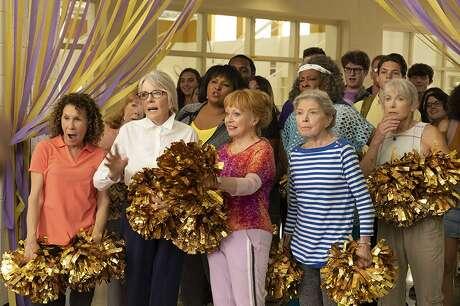 Pam Grier,Diane Keaton,Patricia French,Rhea Perlman,Phyllis Somerville,Carol Sutton,Jacki Weaver, andGinny MacCollin the movie Poms (2019)