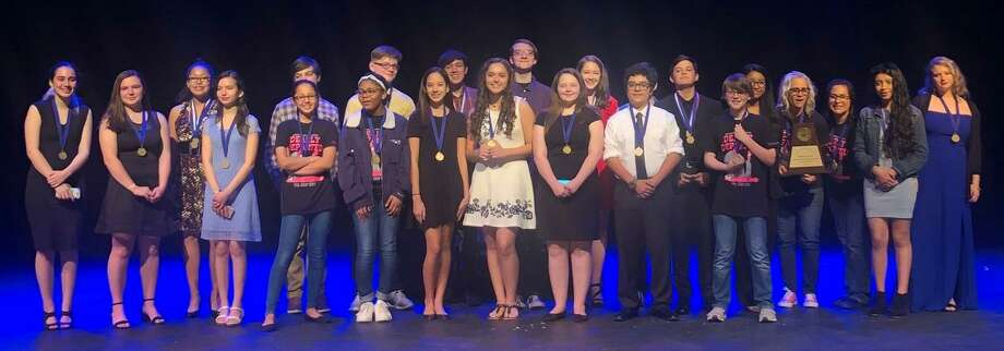 "Pearland Junior High South students won the best play award for their performance of ""Dearly Departed"" during Pasadena ISD's Junior High University Interscholastic League One-Act Play Competition."