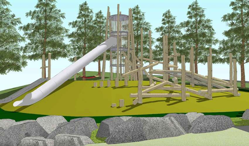 A rendering of the planned playground renovation at McLaren Park.