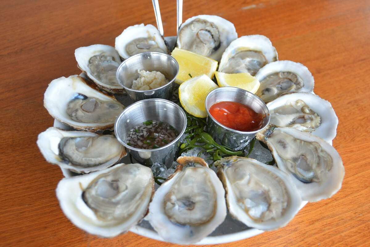 Copps Island oysters at the Whelk in Westport, where the