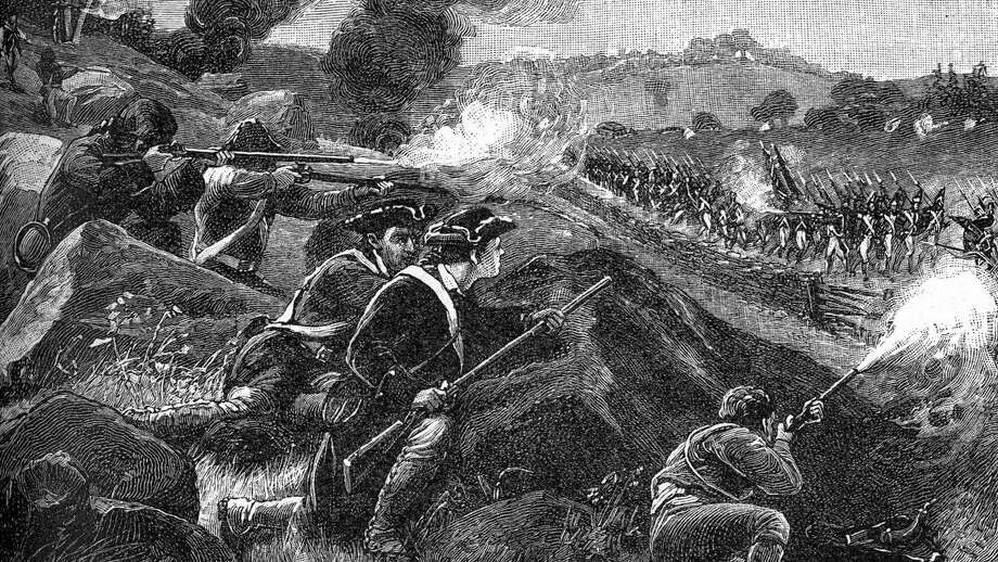 "This engraving of the Battle of Lexington best reflects what the Battle of Norwalk on July 11, 1779 would have looked like. Local historian and Norwalk Historical Society Board member Ed Eckert will present a slide lecture ""The Battle and Burning of Norwalk, July 11, 1779"" on June 23. Photo: Public Domain / Contributed Photo"