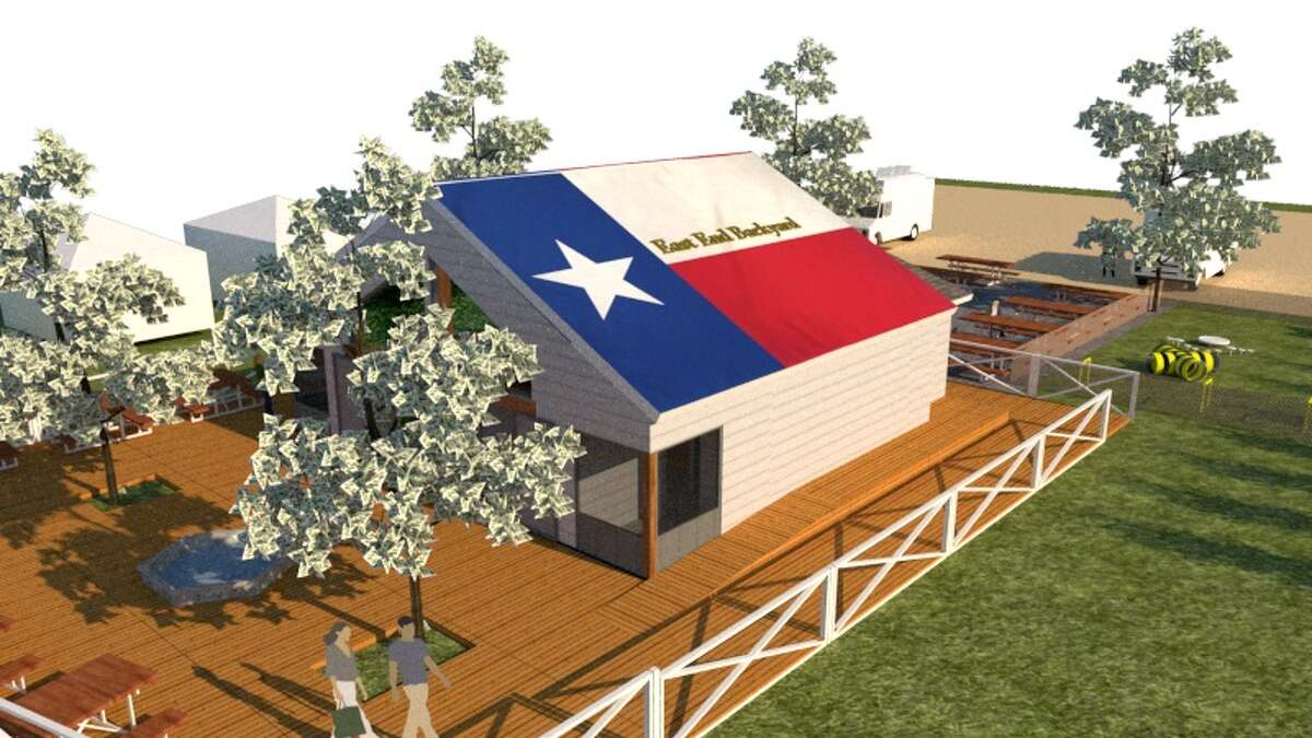 Rendering of East End Backyard, a casual new neighborhood bar called East End Backyard at 1105 Sampson in the EaDo neighborhood. The bar is a project from former Houston Dynamo star Brian Ching who last year opened Pitch 25 in EaDo.
