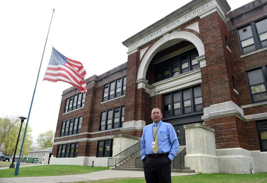 Fort Edward superintendent Daniel Ward stands for a portrait on Wednesday, May 1, 2019 at the Fort Edward High School in Fort Edward, NY. (Phoebe Sheehan/Times Union) Photo: Phoebe Sheehan, Albany Times Union / 20046823A