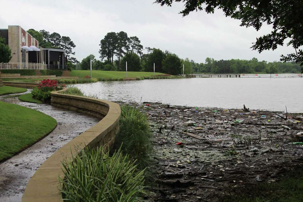 Kings Harbor suffered a large amount of debris on shore due to the flooding that occurred in Kingwood on May 7, 2019.