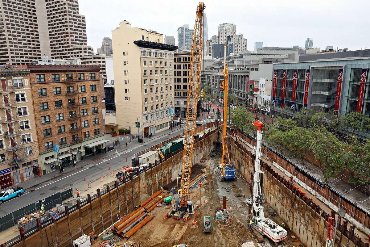 The construction site at 950 Market Street is seen on Monday, April 1, 2019 in San Francisco, Calif.