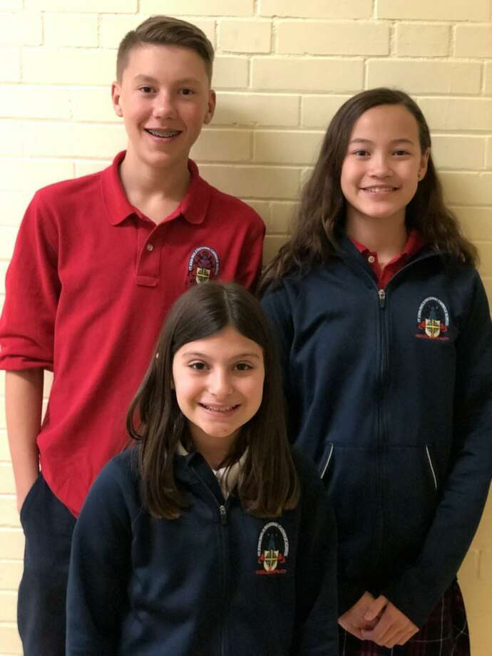 Three St. John Paul II students will be among over 500 who will pitch their ideas to judges for the opportunity to attend the National Invention Convention & Entrepreneurship Expo. Photo: Contributed Photo