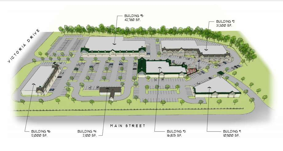 A rendering of a proposed retail plaza on the former Vishay Vitramon site in Monroe. Photo: Contributed Image / Connecticut Post Contributed