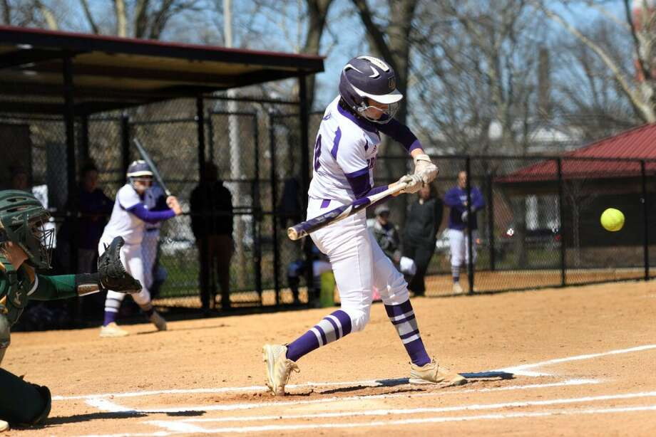 East Haven's Allison Luzzi led 2020 ECC preseason favorite Bridgeport softball team in runs and hits during 2019 season. Photo: University Of Bridgeport / Submitted Photo