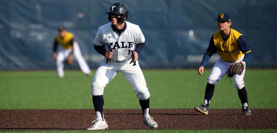 Yale senior Simon Whiteman is a perfect 28-for-28 in stolen base attempts this season. Photo: Sam Rubin, Yale Sports Publicity