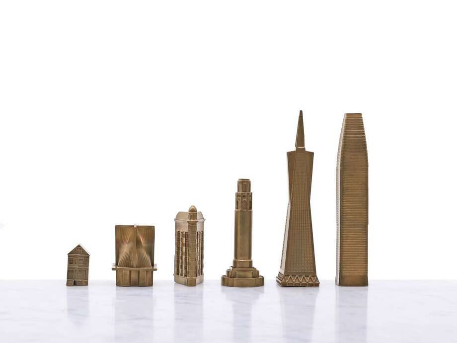 Skyline Chess released a new chess board featuring San Francisco landmarks, including the Salesforce Tower and Painted Ladies. Photo: Courtesy: Skyline Chess