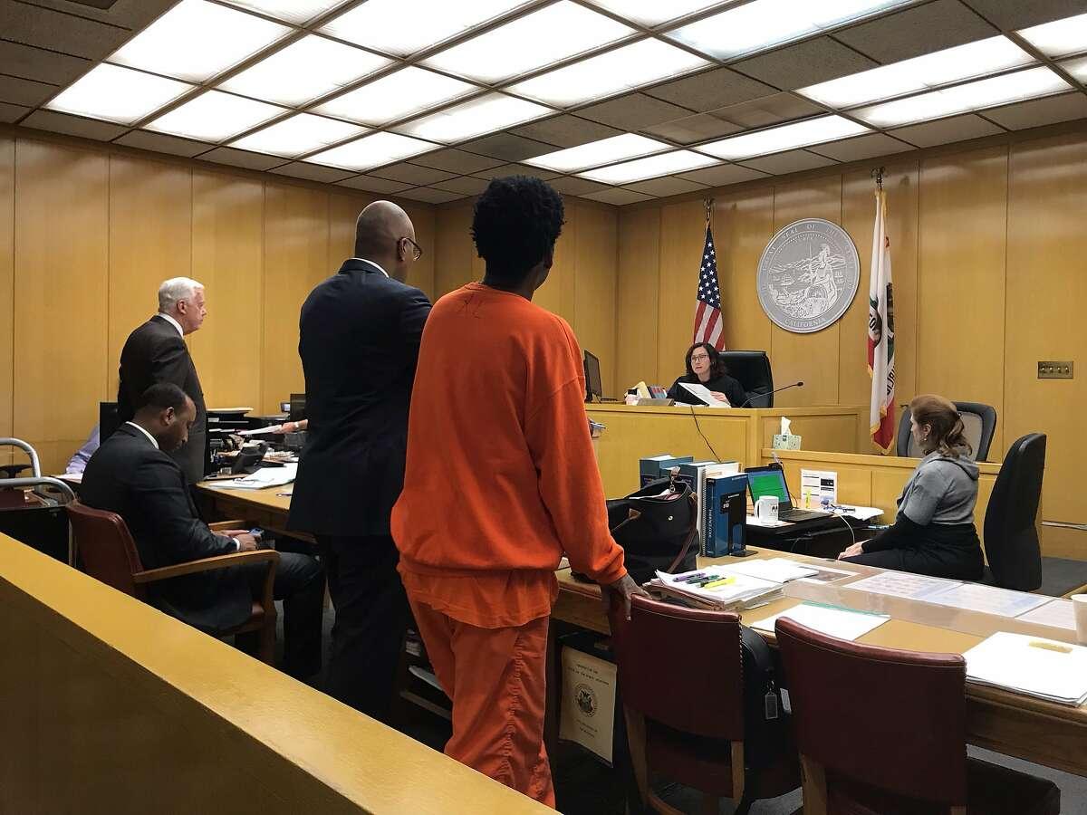 Kevin Epps appears before San Francisco Superior Court Judge Christine Van Aken on March 8, 2019.