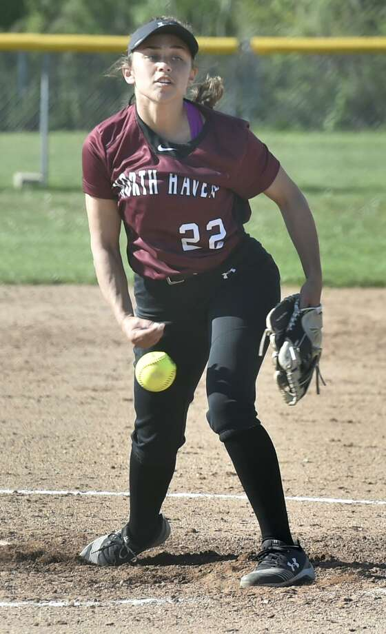 North Haven pitcher Lauren Card has tossed a pair of perfect games in this year's Class L state tournament. Photo: Peter Hvizdak / Hearst Connecticut Media / New Haven Register
