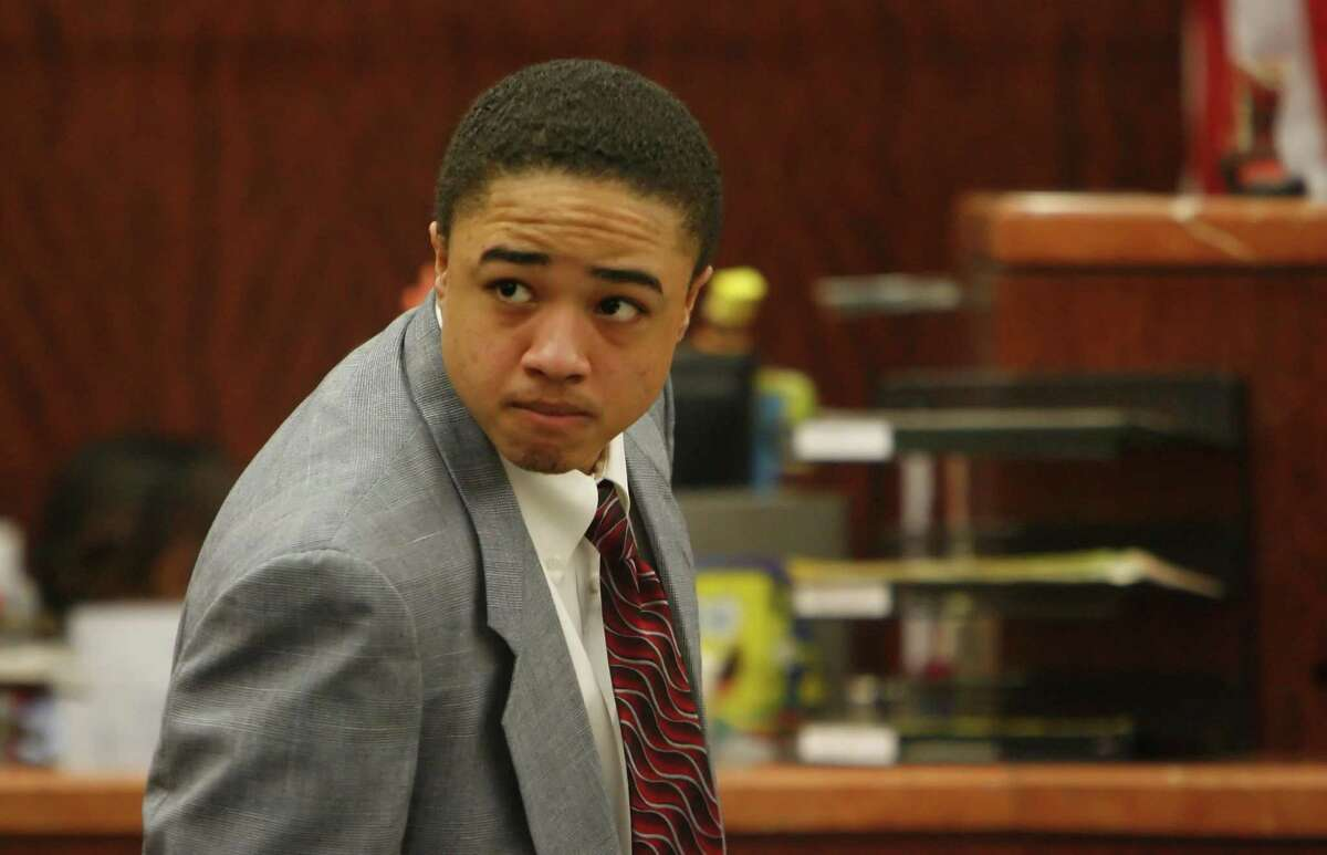 Dexter Johnson appears during his capital murder trial in the 208th district court in the Harris County Criminal Justice Center on June 5, 2007, in Houston.