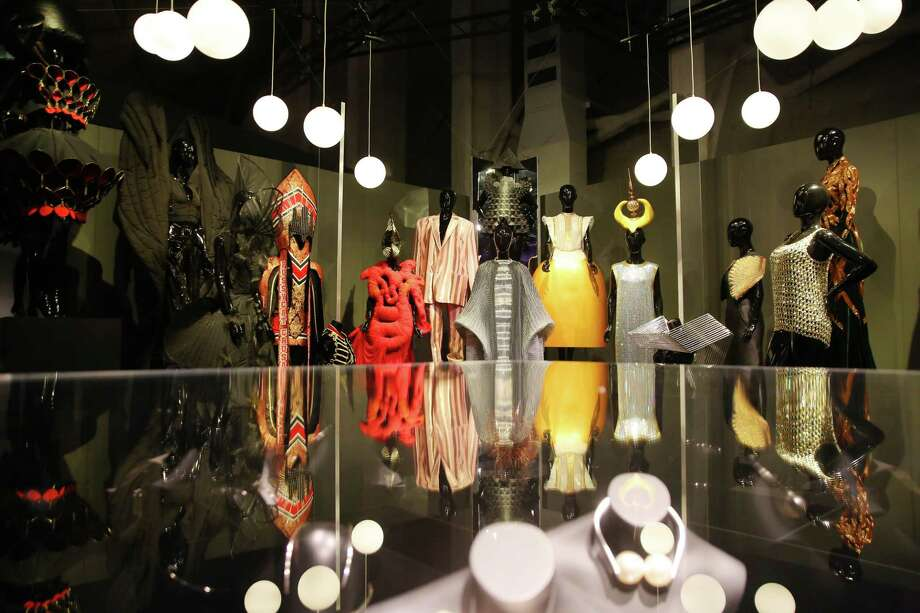 On May 11, MoPop's newest exhibit, A Queen Within Adorned Archetypes, opens to the public. The show examines the world of high fashion, including renown designers such as Alexander McQueen, Vivienne Westwood, Chromat, Issey Miyake, Dai Fujiwara, Studio Roosegaarde, Gypsy Sport Selam Fessahaye and Iris van Herpen, through the lens of six feminine archetypes: Enchantress, Explorer, Heroine, Mother Earth, Sage and Thespian. Photo: Genna Martin, SEATTLEPI / GENNA MARTIN
