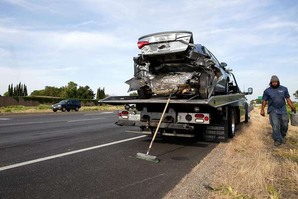 One dead, several hurt in five-car crash on Highway 12 in Fairfield
