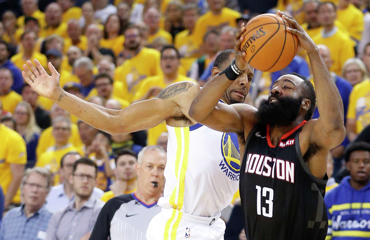 James Harden and the Rockets took their lumps again with another poor first half at Oracle Arena en route to a Game 5 loss.